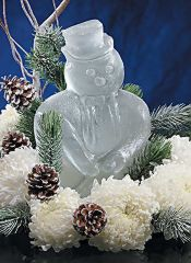 Snowman Ice Sculpture Mold